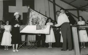 1958 Fahnenweihe: Fahnenakt