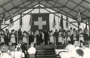 1958 Fahnenweihe: Festakt